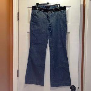 Express Design Studio Editor sequin waist jeans